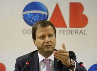 OAB não aceita que Câmara seja usada para proteger grupos políticos, diz Lamachia