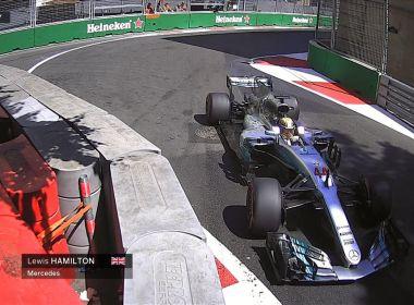 Hamilton supera marca de Senna e garante a pole do GP do Azerbaijão