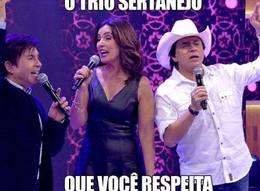 Fátima Bernardes faz sucesso ao cantar 'Evidências' com Chitãozinho e Xororó