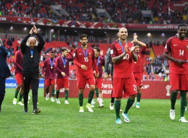 Portugal bate México com virada na prorrogação e fica em 3º na Rússia