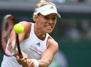 Kerber sofre um pouco, mas bate norte-americana na estreia em Wimbledon