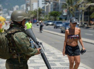 Militares chegam às ruas do Rio de Janeiro para reforço da segurança