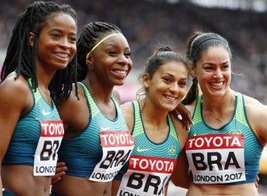 Com sétimo tempo, Brasil garante vaga na final do revezamento 4x100m feminino