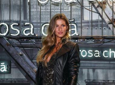 Gisele Bündchen usa look de R$ 10 mil durante evento em São Paulo