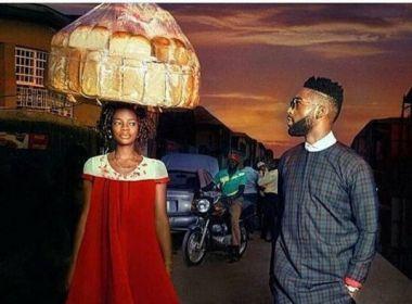Vendedora de pães se torna modelo após aparecer por acaso em foto de rapper britânico