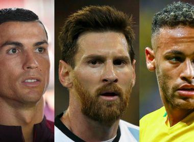 Neymar, Messi e Cristiano Ronaldo são finalistas ao prêmio de melhor do mundo