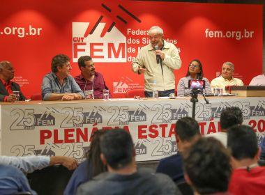 'Não fiquem com essa bobagem de que não serei candidato', diz Lula em Vitória