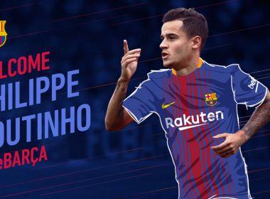 Barcelona contrata o meia brasileiro Philippe Coutinho para a vaga de Neymar