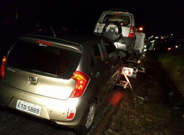 Quatro funcionários são atropelados ao prestar socorro na Rodovia Santos Dumont
