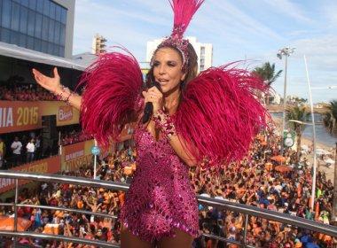 Ivete Sangalo puxa trio sem cordas em primeiro dia de carnaval no Campo Grande