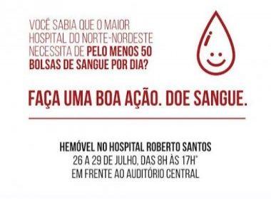 Cantores baianos apoiam campanha de doação de sangue para Hospital Roberto Santos