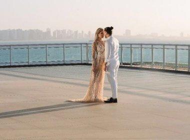 Wesley Safadão e Thyane Dantas já estão casados no civil; cerimônia aconteceu segunda