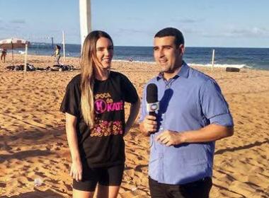 Katê participa do programa 'Esporte Fantástico' da Record