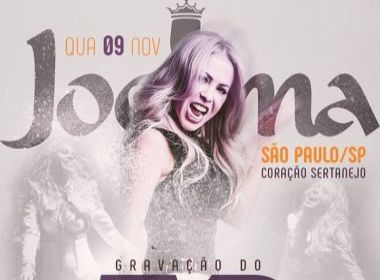 Joelma anuncia gravação de DVD em São Paulo e recebe críticas por lugar pequeno
