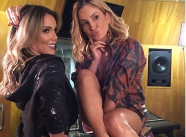 Claudia Leitte e Katê gravam nova versão de 'Tô pro crime' e lançam coreografia