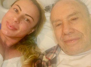 Esposa de Stênio Garcia apresenta melhoras e deixa UTI