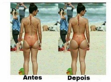 Juliana Paes reprova alteração em foto que aumentou seu bumbum