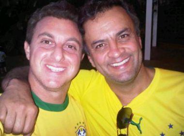 Luciano Huck não exibe mais  fotos ao lado de Aécio Neves nas redes sociais