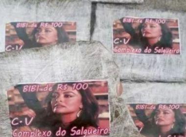 Traficantes do RJ embrulham maconha com foto de Juliana Paes: 'Bibi Perigosa'