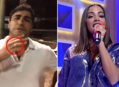 Após quatro meses de namoro, Anitta troca alianças com Thiago Magalhães