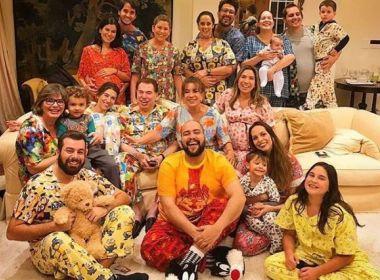 Silvio Santos comemora aniversário de 87 anos com festa do pijama