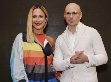 Claudia Leitte confirma Pitbull no trio nesta sexta; motivo do mal-estar não foi revelado