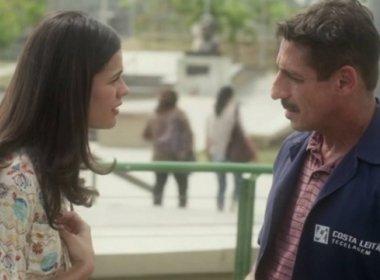 Misael dará surra de cinto em Aline nos próximos capítulos de 'A Lei do Amor'