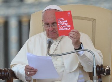 Papa declara apoio a ações de combate ao Trabalho Infantil no Brasil
