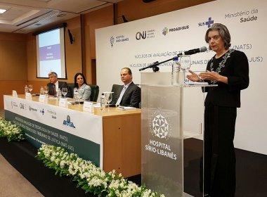 Cármen Lúcia afirma que 'dor tem pressa' em evento sobre decisões judiciais de saúde