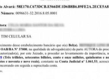 Baiana é autorizada a receber R$ 3 trilhões após erro; valor é metade de PIB do Brasil
