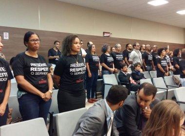 Sintaj organiza 'protesto silencioso' e cobra reunião com presidente do TJ-BA