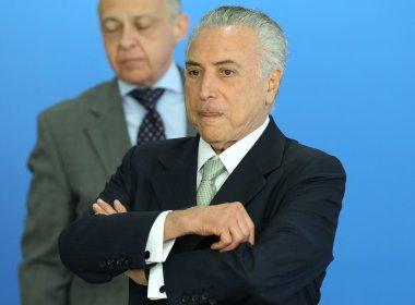 Maioria dos pedidos de impeachment de Temer tem como base áudio sobre Cunha