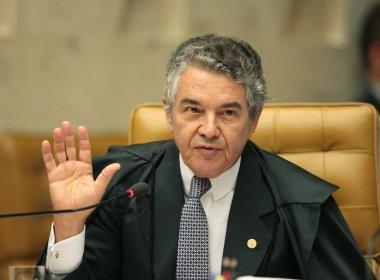 Marco Aurélio critica convocação de Forças Armadas para conter protestos
