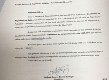 TJ-BA paga despesas de desembargadores em hotel de luxo para evento em Imbassaí