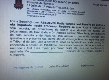 Júri de Kátia Vargas: Promotores pedem que juíza retire expressões 'ofensivas' de ata