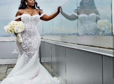 A escolha do vestido da noiva plus size