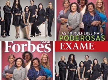 Duas capas sobre a participação feminina nos negócios