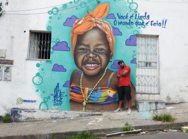 Titi, filha de Bruno Gagliasso, vira inspiração para grafite em Manaus contra preconceito