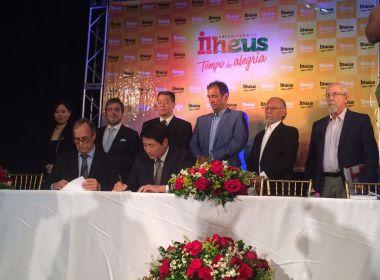 Ilhéus: Empresários chineses visitam ZPE e Porto Malhado e assinam memorando