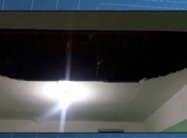 Sobradinho: Mulher fica ferida após parte de teto de UPA desabar