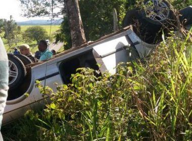 Três morrem e quatro ficam feridos após capotamento entre Amargosa e Mutuípe