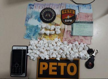 Itapetinga: Homem que entregava drogas por encomenda é preso pela PM