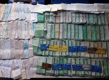 Amargosa: Suposto agiota é apreendido com cartões, documentos e cheques de terceiros