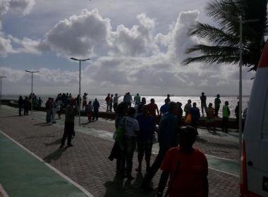 Lanchas se deslocam para Mar Grande para socorrer vítimas de acidente em embarcação