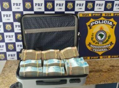 Conquista: Homem flagrado com mala de R$ 700 mil é liberado após depoimento