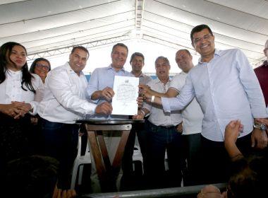 Ibicaraí: Rui entrega nova sede da CIPE e plano de revitalização do Rio Cachoeira