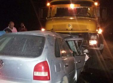Caravelas: Motorista morre após colisão frontal com caminhão na BR-101
