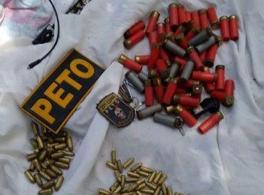 Maragojipe: Polícia Militar apreende 171 cartuchos de vários calibres