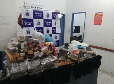 Porto Seguro: Polícia prende jovem e encontra arsenal de munições e 87 Kg de drogas