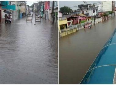 Valença: Chuva prolongada atinge vários bairros e prefeitura fica em alerta